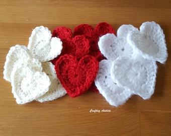 Crochet Heart - Strawberries and Cream