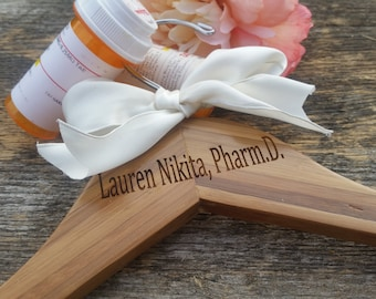 Pharm D White Coat Ceremony,  Personalized Hanger, Lab Coat, Pharmacist Gift, NEXT DAY PRIORITY Shipping, Gifts Wrapped