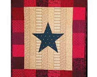 Military Blue Star Banner Wall Hanging
