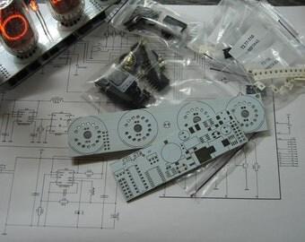 Nixie tube clock DIY kit 2.1 for IN-18 or IN-4 tube (tube and tube socket is not included)