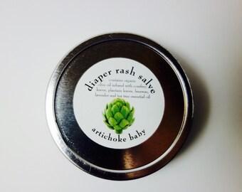 organic diaper rash salve balm soothing natural healing pure 2oz