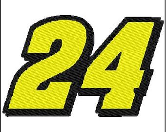 Jeff Gordon 24 Nascar Embroidery Design