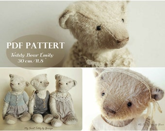 PDF Pattern Teddy Bear Emely,instant download