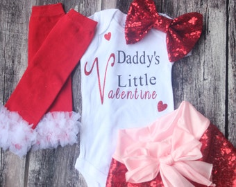 Schön Daddyu0027s Little Valentine, Valentines Day Baby, My First Valentines Day, Baby  Girl Outfit