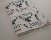 Deer Antlers And Arrows Blanket Personalized Baby Boy Blanket-Gift Swaddle Blanket-Printed Blanket  Name-Baby Boy Shower Gift-Hunting Boy