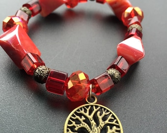 Corrals and the Tree of life bracelet