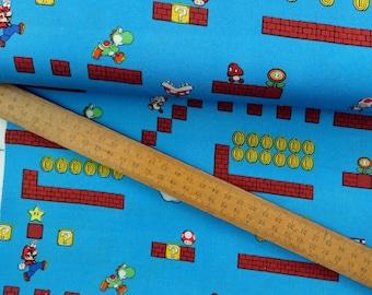 Nintendo Super Mario Game Scenes Gamers Video Game Cotton Fabric per metre per fat quarter