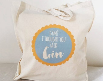 Gym Or Gin Tote Bag