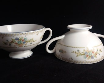 7 Wedgwood Two Handled Soup Bowls / Cups