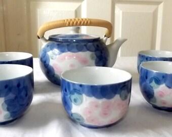 Japanese PorcelainTea set , signed , 20th century
