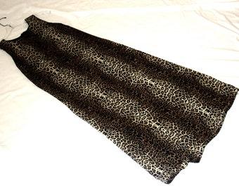 Vintage Leopard Desgin Short Sleeve Dress
