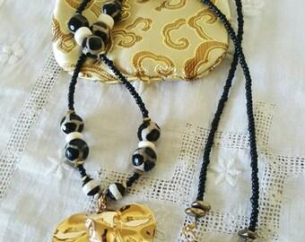 Tribal Golden Elephant Necklace