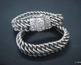 ancient antique tribal old silver anklet feet bracelet ankle chain bracelet
