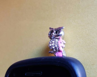 Very Cute Owl Anti Dust Plug Phone Accessories Charm Headphone Jack Earphone Cap