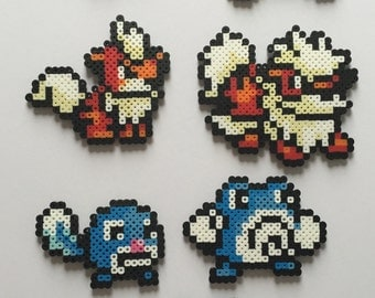 Pokemon Gen 1 #56-62: Mankey, Primeape, Growlithe, Arcanine, Poliwag, Poliwhirl, Poliwrath