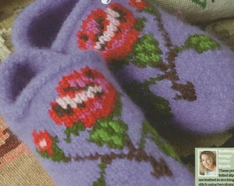 Ladies Cosy Toes Warm Knitted Slipper  Knitting Pattern Size 3-8