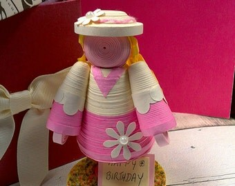 3d quilling paper art doll birthday gift