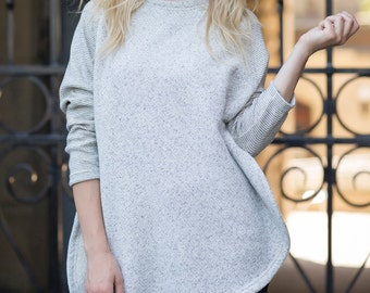 East End Sweater in Salt & Pepper