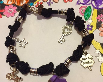 Bracelet charms and Ribbon awareness