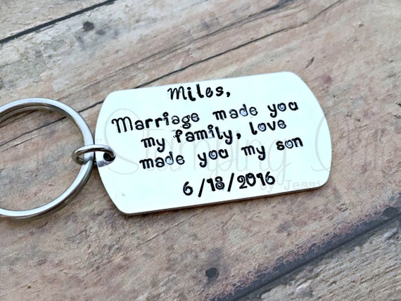step son wedding gift step son gift step son keychain wedding gift