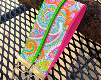 Key Fob Wristlet - Pretty in Paisley NEW!
