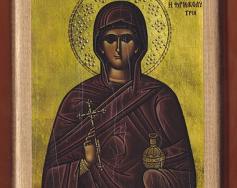 Saint Anastasia The Great, The Pharmakolytria.Christian orthodox icon. FREE SHIPPING