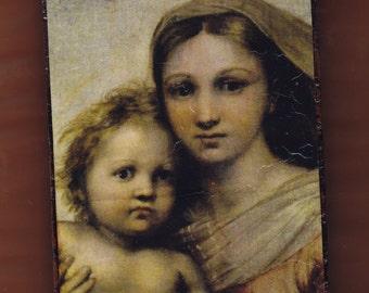Virgin Mary,Raffaelo,La Madonna Sistina.FREE SHIPPING