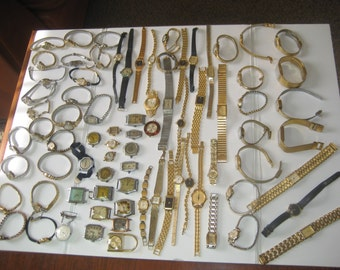 Huge lot of 80 Antique and Vintage Watches Seiko Citizen Longines Pulsar Omega Bulova Hamilton Zodiac Wittnauer just to name a few.