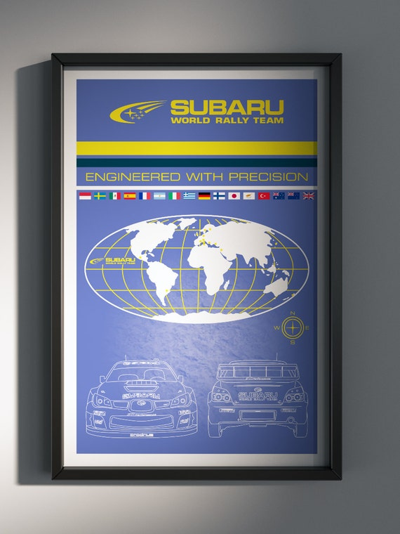Subaru World Rally Team, Team Poster, WRC 2006 Season Edition - Art Print Production