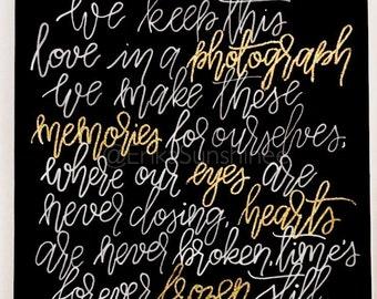 Gold embossed Photograph-Ed Sheeran