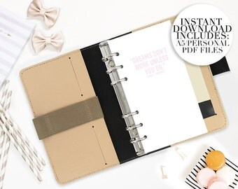 instant download inserts A5/PERSONAL SIZE monthly planner inserts mo2p