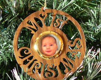 Baby's 1st Christmas Ornament - Walnut