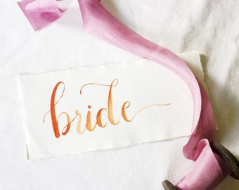 Calligraphy Wedding Place Cards // custom