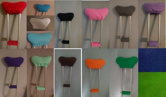 how to make crutch pad covers