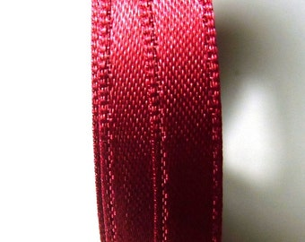 30 meters Satin ribbon 6mm burgundy