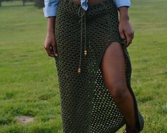 Sydney Crochet Maxi Skirt