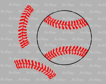 Baseball stitches SVG DXF EPS, Softball stitch svg, svg cutting file for Cricut Silhouette, Baseball svg design, Softball svg designs