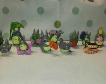 Tiny Totoro figures (14)