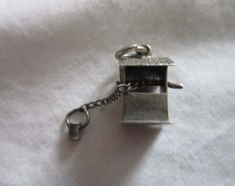 Vintage Sterling Silver Mechanical Wishing Well CHARM for Charm Bracelet