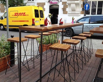 BEER MEETING TABLES /// pub restaurant garden table various sizes specially made for you by Nortre