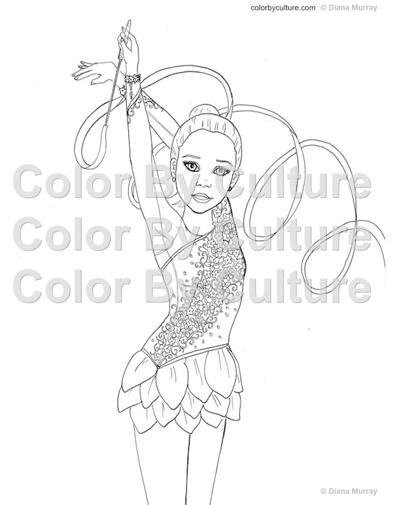 Coloring Book For Fashion : Gymnastics coloring book fashion printable