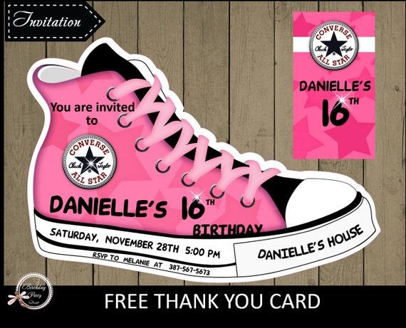 Converse Shoe Invitations