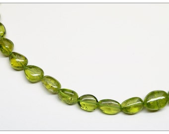24-Inch Strand of Gorgeous Peridot Plain Tumbled Beads