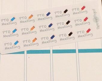 PTO Meeting Planner Sticker