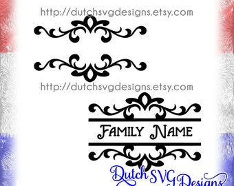 2 Swirly split monogram cutting files, in Jpg Png SVG EPS DXF, for Cricut & Silhouette, svg cutting files, split monogram svg, diy