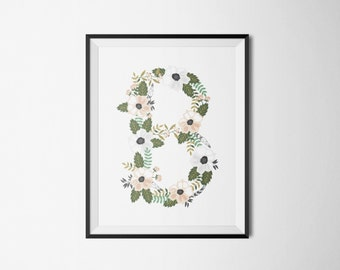 Floral Letter Art (Custom letter of your choice)