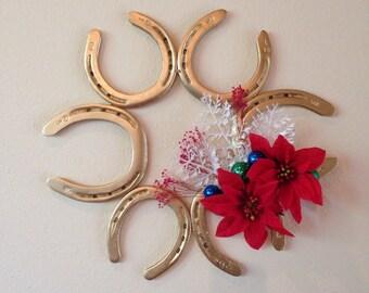Horse Shoe Christmas Wreath