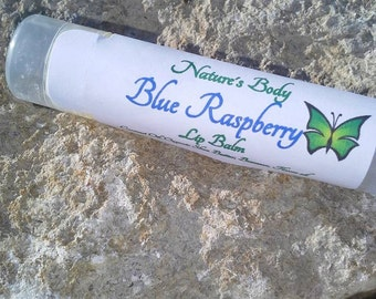 Blue Raspberry Lip Balm, Blue Raspberry Shea Butter Lip Balm, Natural Lip Balm