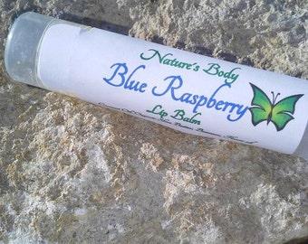 Blue Raspberry Lip Balm, Blue Raspberry Shea Butter Lip Balm, Natural Lip Balm