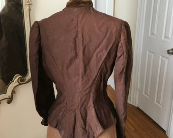 RESERVED Wearable Antique victorian bodice